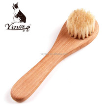 High quality wooden handle bristle cheap shoe brush