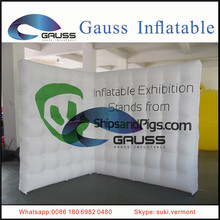 white inflatable exhibition stands/inflatable wall for sale