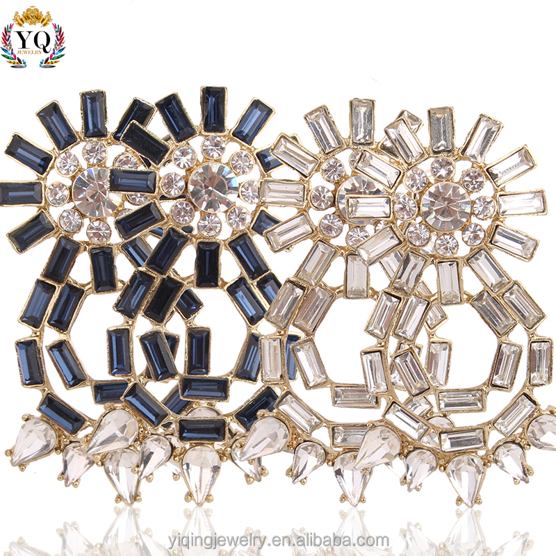 EYQ-00017 white/blue crystal large statement elegant wholesale fashion jewelry China