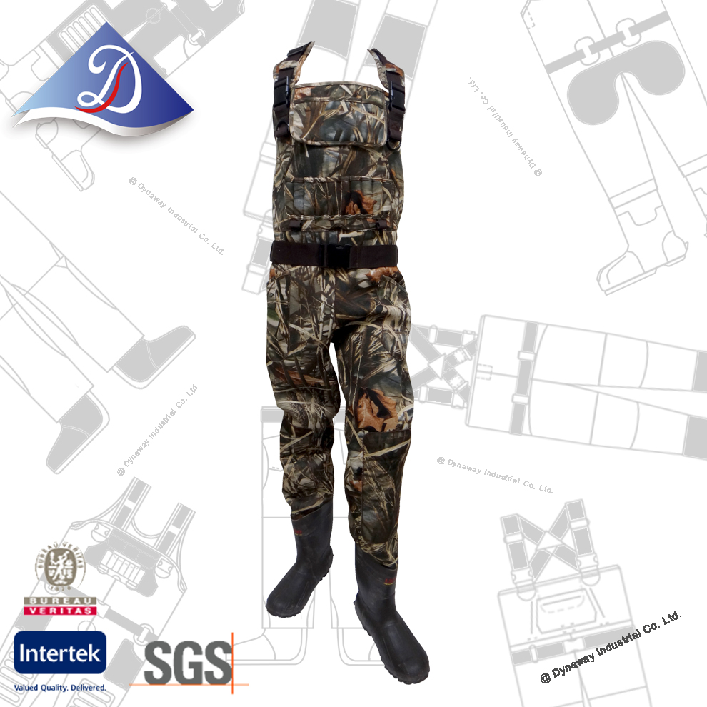 Hunter Must Have! Camoflauge Neoprene chest rubber suit for duck hunting