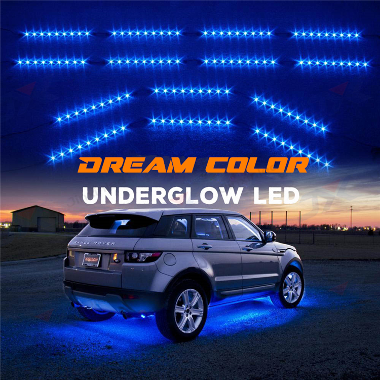 Customized Magic Chasing Dream Color Car Underbody/Interior LED Light Kit Waterproof IP 65 IP 67