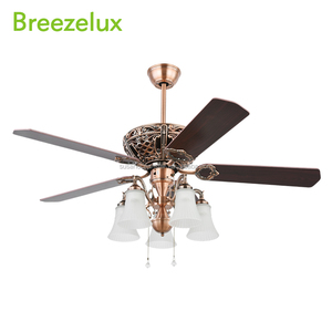 American country wood blades remote control 220v table fan lamp retractable bldc ceiling fans with lights