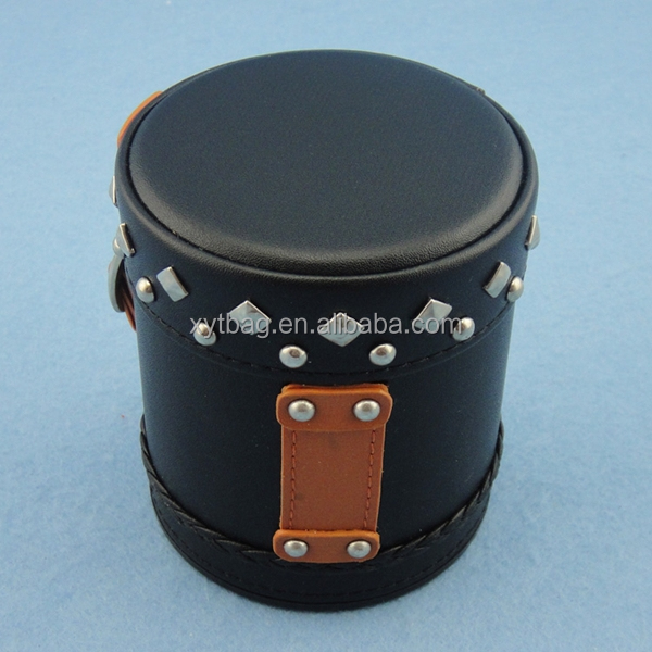 Personalized Leather Dice Cup and Dice Tray