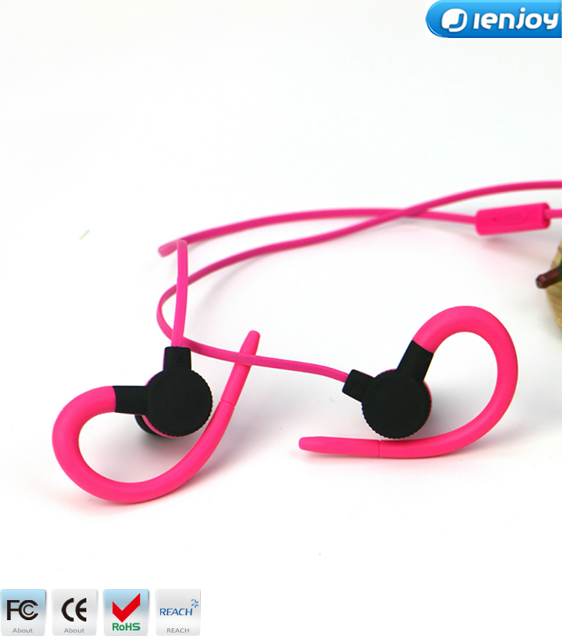 Ienjoy most popular sports headset,colorful cheap sport earphone for mp3 player and cellphone