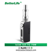 Islim Roll TC 70W made in china e cigarette 0.1 ohm - 1.0 ohm high rate 18650 battery vaporizer herb pen hot sale in UK