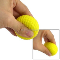 promotional yellow pu foam golf stress ball items sale in bulk