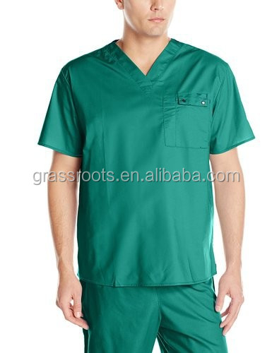 men nurse scrub uniform hospital new design cotton medical scrubs