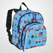 Fashionable car Kids school backpack Trains, Planes & Trucks Pack 'n Snack Backpack