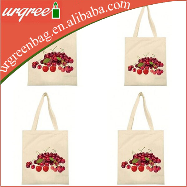 Fruit cotton canvas tote bag