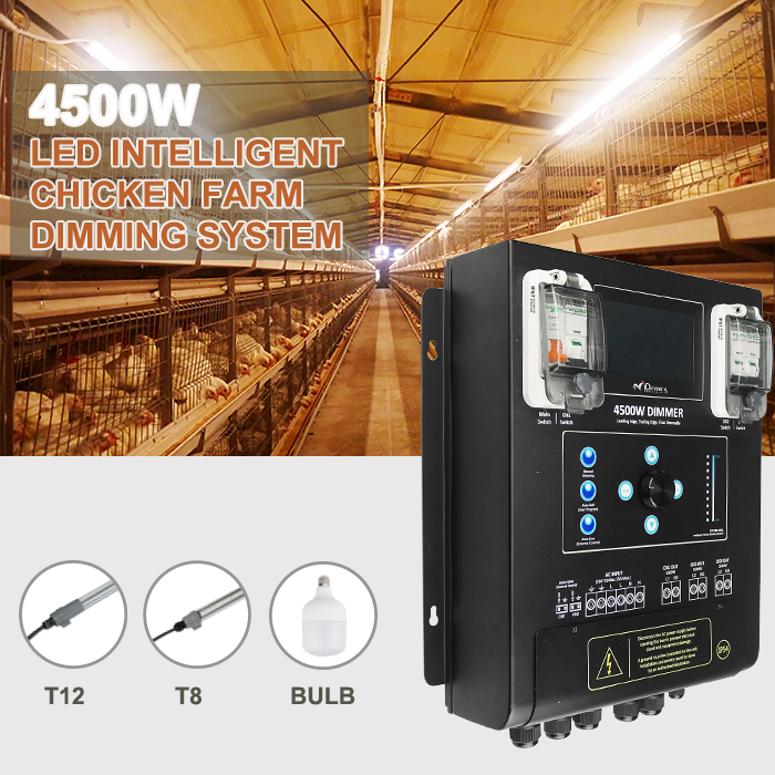 High power led dimmer with 3000W dimmer device for led dimmable lighting 180-265VAC chicken farm dimmer