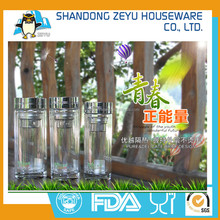 tea strainer office glass cup thickened bottom water bottle with lid