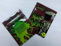 Mad hatter brand 3g resealable mylar spice smoke bag