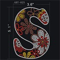 "Letter""S"" hot fix hotfix rhinestone Korean-made rhinestuds iron on for hats,craft,clothing"