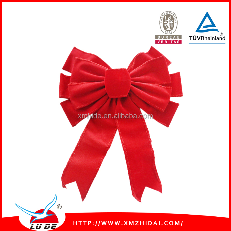 New Christmas Velvet Ribbon Bows