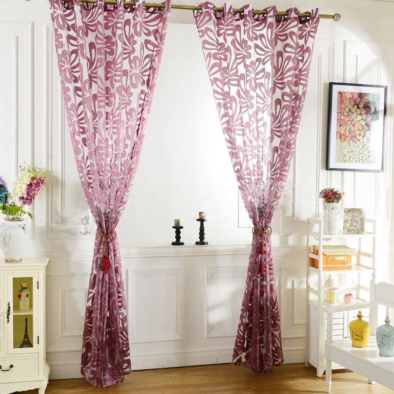 Jacquard 3D Flower Pattern Curtains for Living Room Modern Ready Made Blackout Curtain