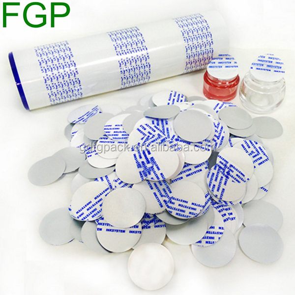 High quality with best price for pre-cut plastic bottle cap seal lift peel lid/liner made in China