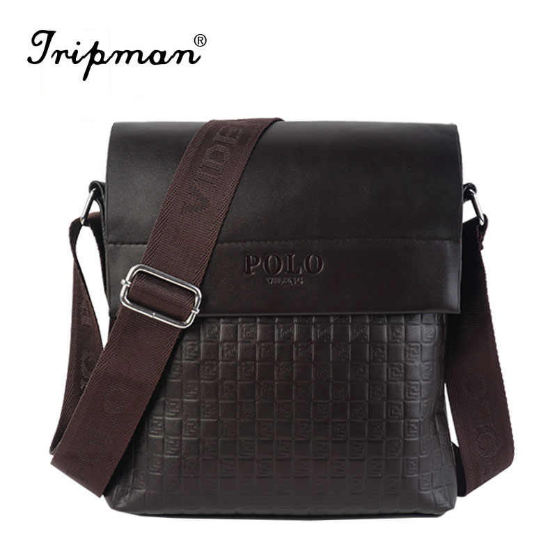 POLO Famous Brand Leather Men Bag Casual Business Leather Mens Messenger Bag Vintage Men's Crossbody Bag bolsas male