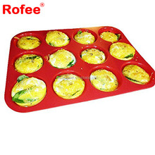 12 Cup Silicone Muffin Pan- Cupcake Baking Pan / Non - Stick Silicone Mold / Dishwasher - Microwave Safe