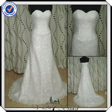 JJ2916 Beaded Sexy Mermaid Spanish Lace Civil Wedding Dress