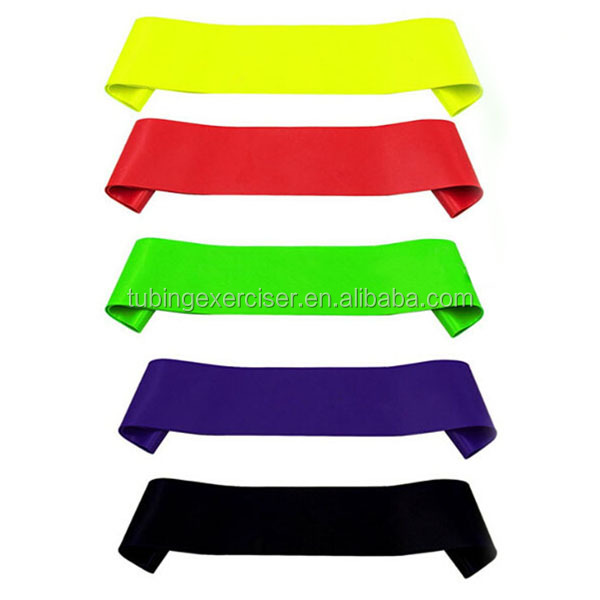 High quality 5 level leg training/workout resistance Loop Bands