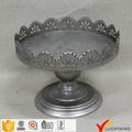 Silver Paint Finish Metal Vintage Cake Stand Plates