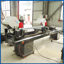 UPVC profile double mitre saw / used pvc window manufacturing machine