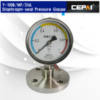 Y-100BF/Z/MF/316 diaphragm seal pressure gauge