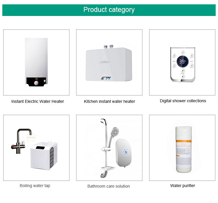 Automatic Thermostatic Control Smart Instant Water Heater