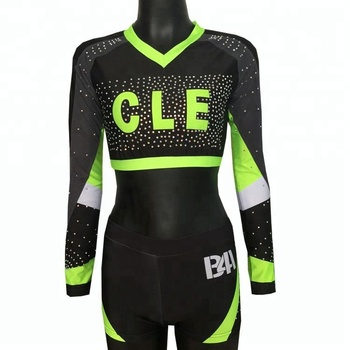 latest design crop top sexy cheerleader costume for girls