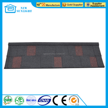 Anti Faded Monier Villa Roof Tile Colorful Stone Coated Metal Roof Tile