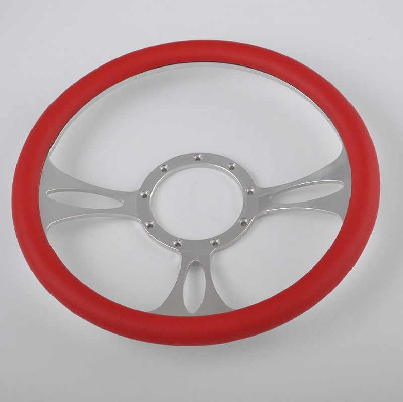 New Street Rod 350mm Half Wrap Billet Steering Wheel