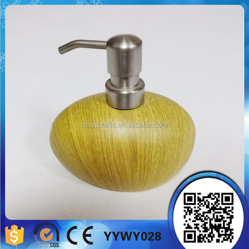 artificial imtation wooden hand soap dispenser
