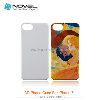 New arrival 3D PC Case For iPhone7,Diy Sublimation Phone Case