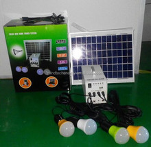 small solar indoor lighting system with phone charger