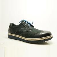 OEM accpeted bottom price bullock style nubuck leather men factory manufacturing leather shoes in china