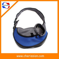 Portable soft dog carrier shoulder bag