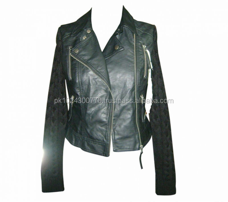 Genuine leather jacket for ladies