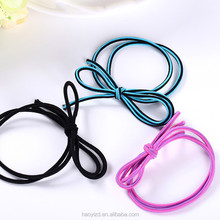 china diy small rubber band bow hair tie human elastic hair holder