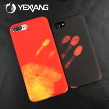 New Creative Thermal Induction Color Change Phone Case for iPhone 7 wholesale phone back cover