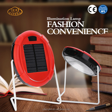 100% Original Supplier Red Color Rechargeable Mini Lamps Saving Energy Solar Reading Lamps Desk Lights