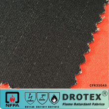 EN 533 Index 3 Heat and flame retardant THPC Treated Fabric 350gsm Sateen work wear textiles