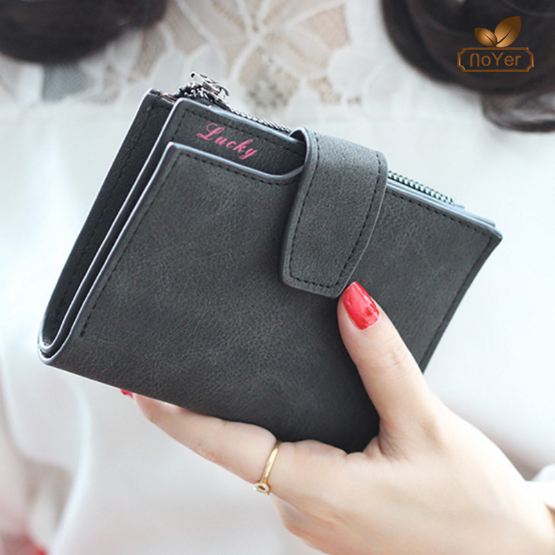 Korean style women leather money clip wallet pu coin purse lady small wallet
