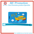 colorful silicone airplane luggage tag