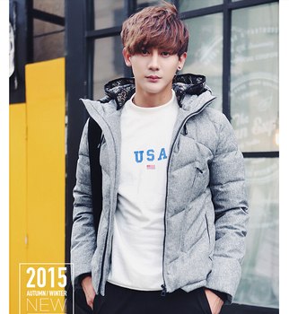 2Gentlemen's long sleeve BUTTON thickens maintains warmth COAT for WINTER season,fom Guangzhou