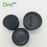 Disposable flat lid colorful plastic pp lid for cold drink paper cup