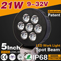 5inch 21W LED Working Lamps Bridgelux Car LED Work lights