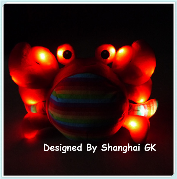Creative Plush Crab LED Toys