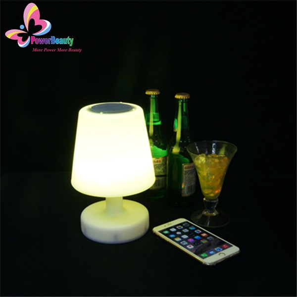 2016 high quality waterproof wireless led table lamp with bluetooth speaker