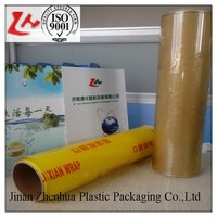 best fresh pvc clear plastic film rolls pe cling film food packing film transparent