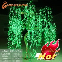 led weeping willow tree simulation garden decorative lighting plants